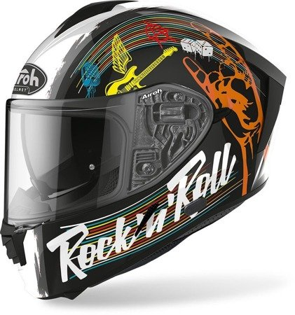Kask AIROH Spark Rock'N'Roll black gloss