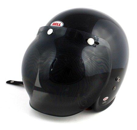 Kask BELL Custom 500 black  z wizjerem bubble dark smoke