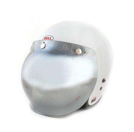 Kask BELL Custom 500 white z wizjerem bubble silver