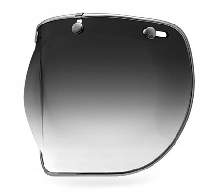 Kask BELL Custom 500 white z wizjerem bubble smoke