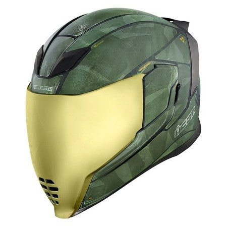 Kask ICON AIRFLITE Battlescar 2 gold mirror