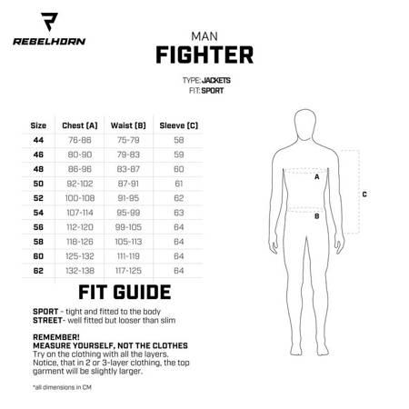 Kombinezon 2 częściowy REBELHORN Fighter fluo