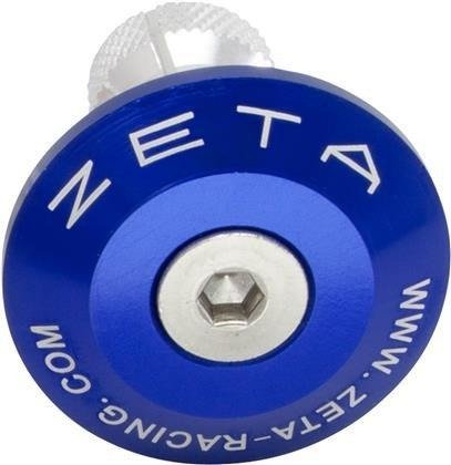 Końcówki kierownicy ZETA niebieskie 29 mm ZE48-7007
