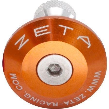Końcówki kierownicy ZETA pomarańczowe 29 mm ZE48-7009