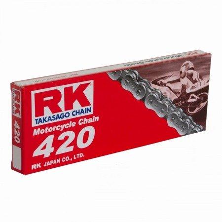 Łańcuch napędowy RK 420 M 116 ogniw otwarty z zapinką klipsem