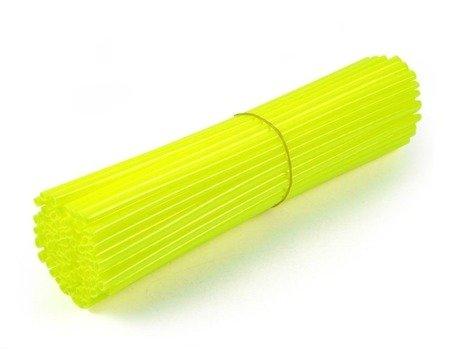Nakładki na szprychy ACCEL żółty fluo