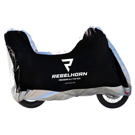 Pokrowiec na motocykl REBELHORN Cover II Top Box - wodoodporny z miejscem na kufer rozmiar S
