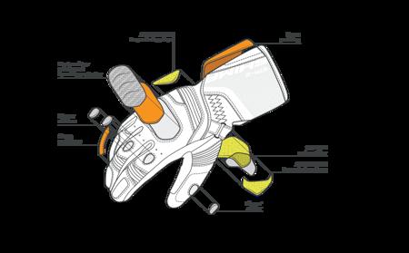 Rękawice SHIMA STR-2 fluo