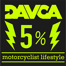 Skarpety DAVCA czarne skarpetki motocyklowe r.41-46 (5% charity)