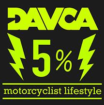 Skarpety DAVCA czerwone skarpetki motocyklowe r.41-46 (5% charity)