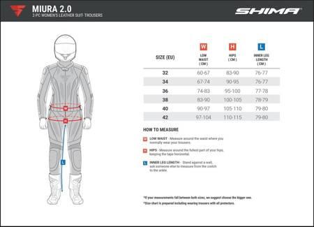 Spodnie skórzane SHIMA Miura 2.0 Lady white