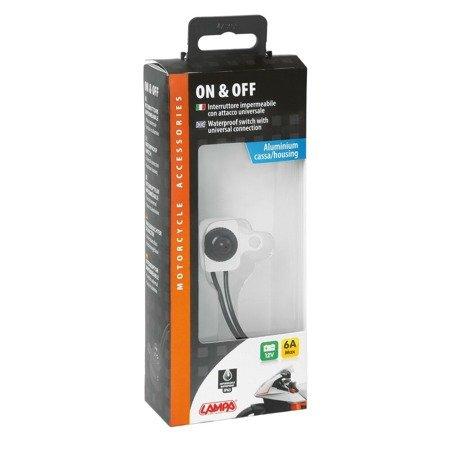 Uniwersalny wyłącznik włącznik ON/OFF w aluminiowej obudowie