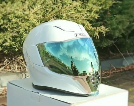 Wizjer do kasku ICON AIRFLITE green mirror