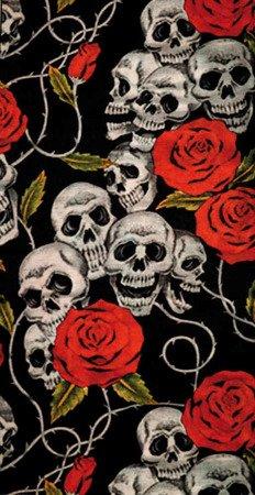 komin uniwersalny MODEKA skulls roses